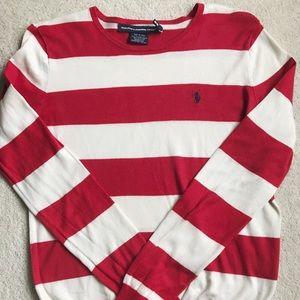 Polo by Ralph Lauren Red/Cream Crewneck Sweater